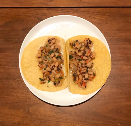 Black Eyed Peas Tacos - Served