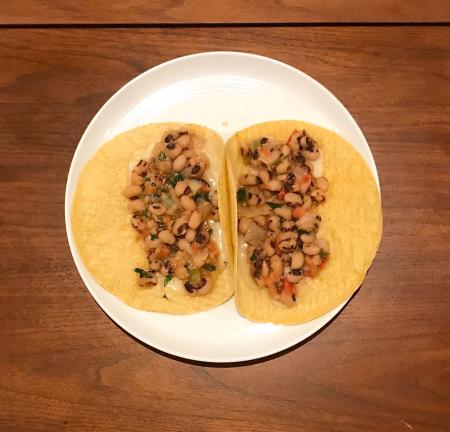 Black Eyed Peas Tacos - Served