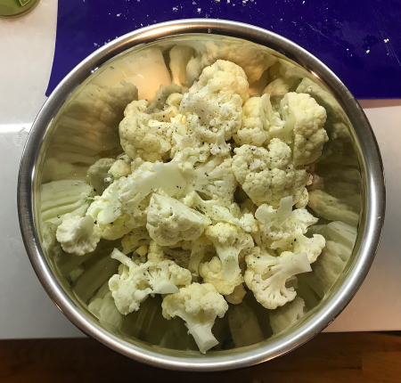 Cauliflower Dengaku - Cut and Seasoned Raw Cauliflower