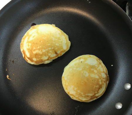 Buttermilk Pancakes - Cooked in Pan