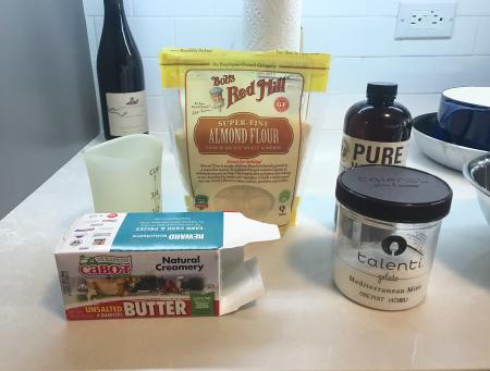 Almond Shortbread - Ingredients