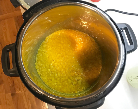 Dahl Tadka - Dahl After Initial Pressure Cooker