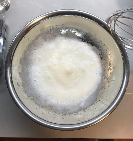 Corn Pudding - Egg Whites at Soft Peaks