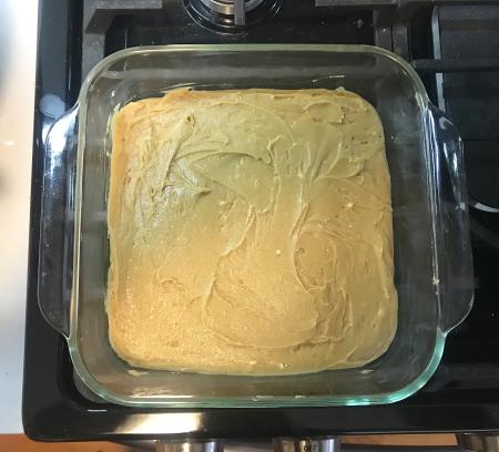 Churro Brownies - Batter in Pan