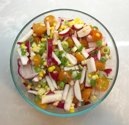 Corn Summer Salad - Prepared