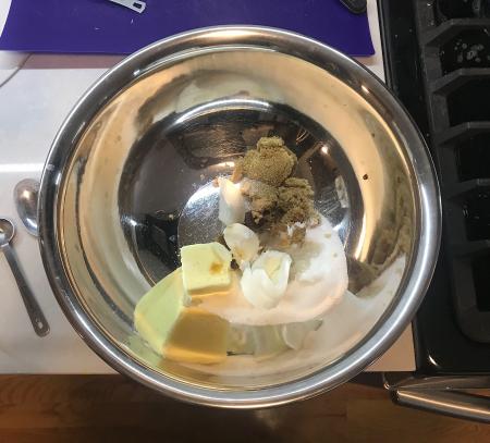 KAF Chocolate Chip Shortening Cookies - Wet Ingredients