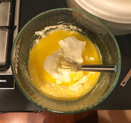 Corn Muffins - Wet Ingredients Mixed In