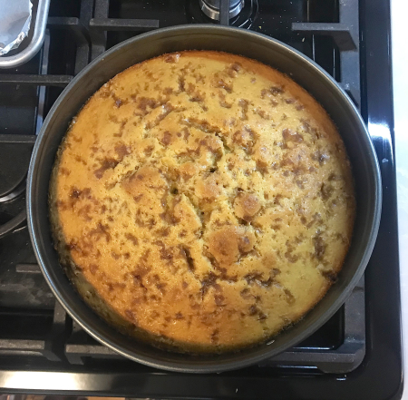 Olive Oil Cake - Out of Oven