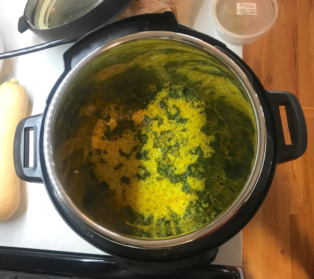 Madhur Jaffrey - Spinach Dal  Dal Done Cooking