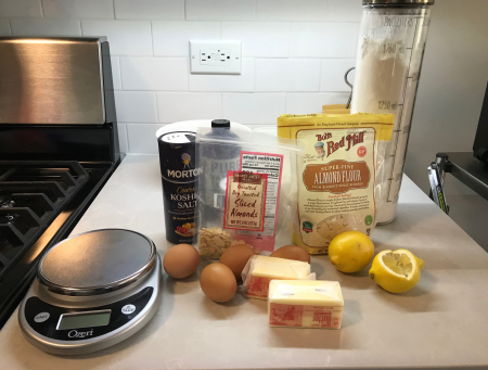 Lemon Almond Pound Cake - Ingredients