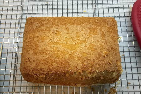 Lemon Almond Pound Cake - Bottom Post Bake