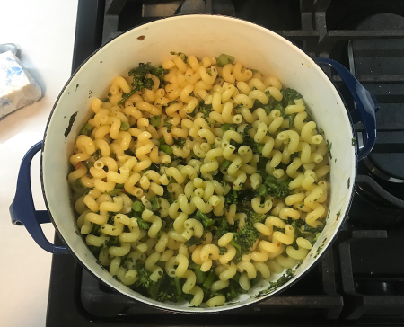 Broccolini Pasta - Pasta Cooked