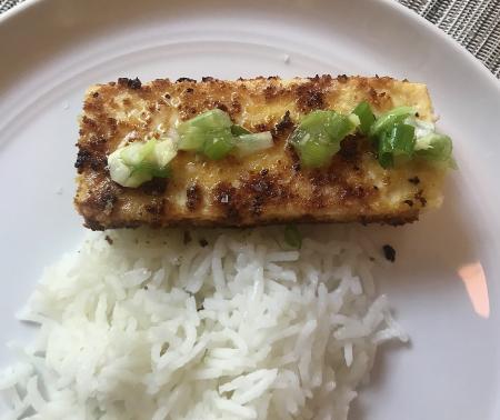 Panko Tofu - Served Close up