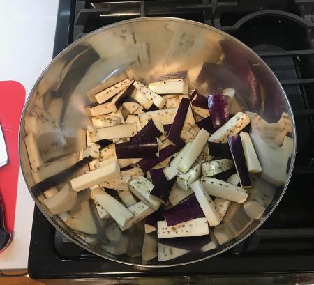 Fuchsia Dunlop Eggplant - Eggplant Chopped