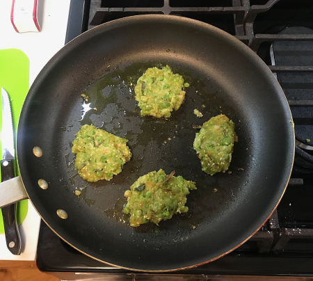 Pea Fritters - Fritters Partly Cooked