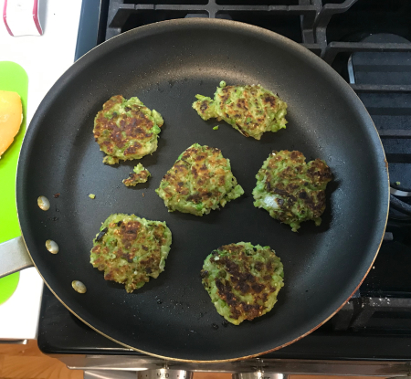Pea Fritters - Second Set of Fritters Browned More