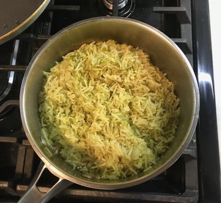 Arroz Verde - Cooked in Pot