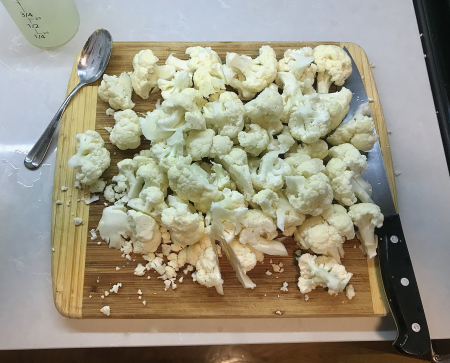 Buffalo Cauliflower - Cauliflower Chopped