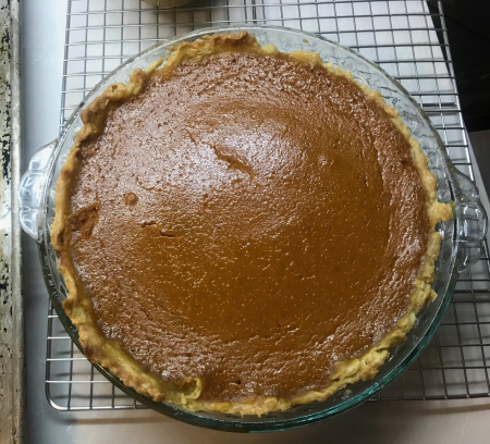 Brown Butter Pumpkin Pie - Baked and Cooled