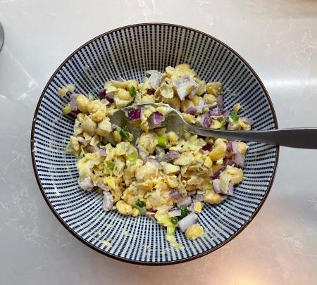 Chickpea Salad Sandwich - Filling Prepared