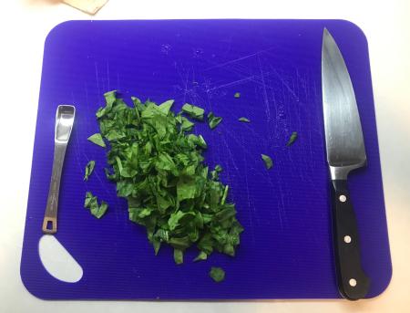 Madhur Jaffrey - Spinach Dal  Chopped Spinach