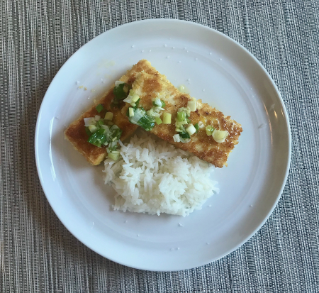 Panko Tofu - Served