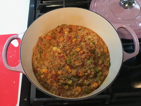Moosewood Quinoa Stew - Stew Mixed Together