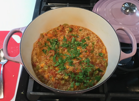 Moosewood Quinoa Stew - Quinoa Finished in Pot