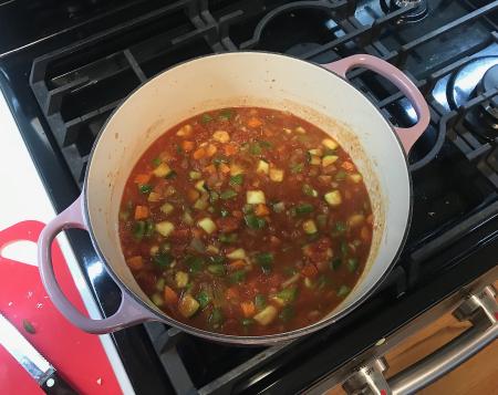 Moosewood Quinoa Stew - Vegetables Cooking