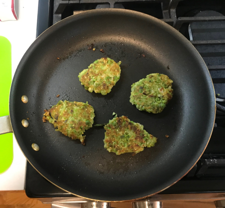Pea Fritters - Fritters Cooked in Pan