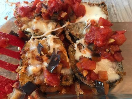 Eggplant Parm - For Serving Top View