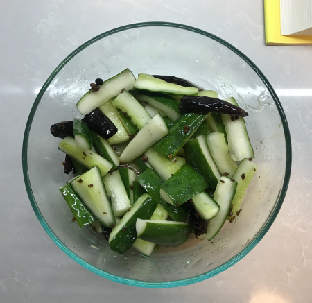 Sichuan Pickled Cucumbers - Finished