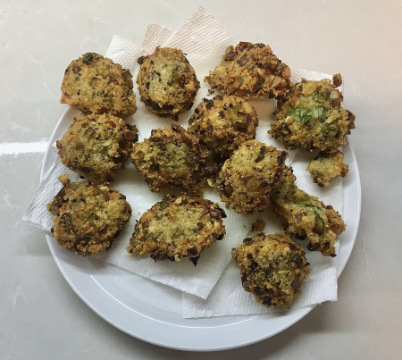 Black Eyed Pea Fritters  - Fried