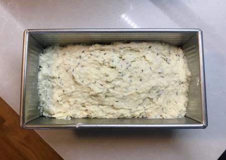 Soda Bread - Dough in Bread Pan