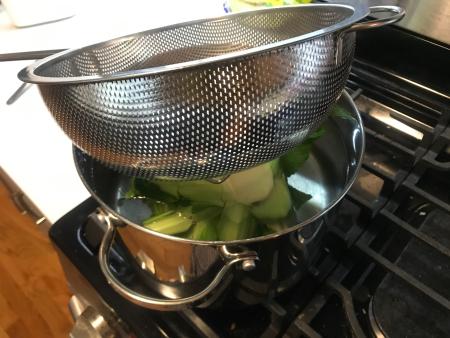 Miznon Cauliflower - Cauliflower Boiling