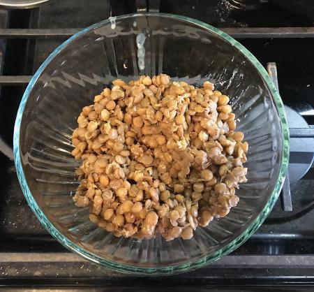 Lentil Salad - Lentils Cooling