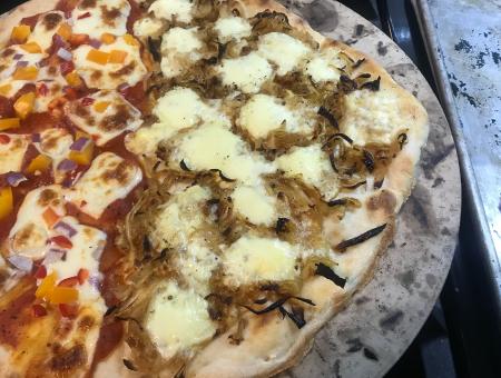 Carmelized Onion Pizza Close Up