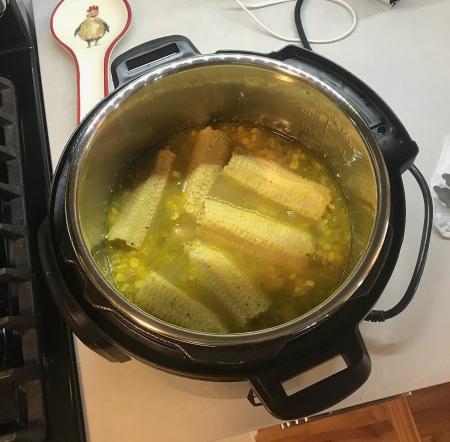 Milk Street Corn Soup - Post Pressure Cooker