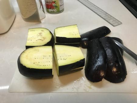 Eggplant Parm - Cut Eggplant