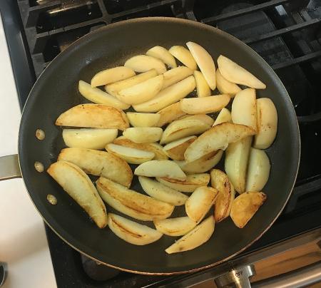 Greek Garlic Lemon Potatoes - Potatoes One Side Browned