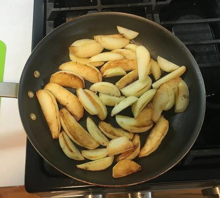 Greek Garlic Lemon Potatoes - Both Sides Browned