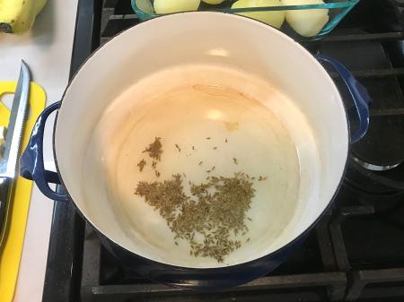 Dishoom Aloo Sabzi - Cumin in Pot