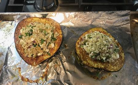 Stuffed Acorn Squash - Quinoa Ready for Baking