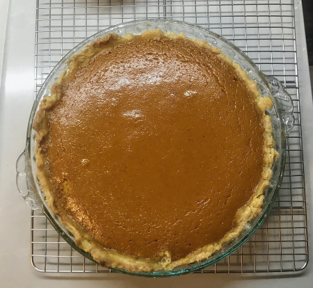 Brown Butter Pumpkin Pie - Out of Oven