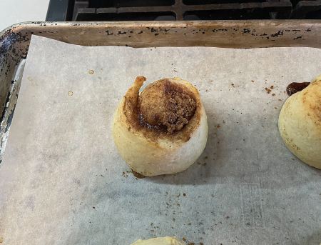 KAF Pillowly Cinnamon Rolls - Out of Oven