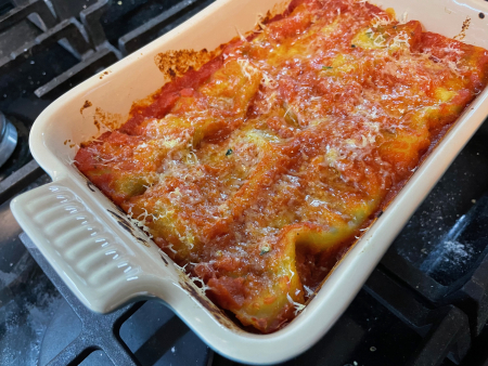 Baked Manicotti - Out of the Oven