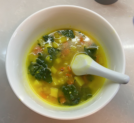 Vegetarian Soup with Potatoes and Kale
