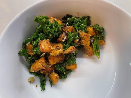 Roasted Sweet Potato and Kale